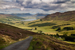 Glen Quaich Scotland. Glen Quaich and Loch Freuchie in Perth and Kinross, Scotland Royalty Free Stock Images