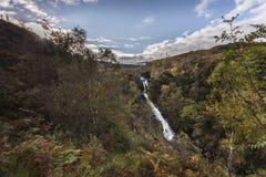 Glen Righ Waterfalls near Fort William in Scotland. Stock Photo