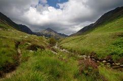 Glen Rosa på Arran, Skottland Royaltyfria Foton