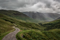 Glen Roy. The National Nature Reserve of Glen Roy the Lochaber area of the Highlands of Scotland royalty free stock image