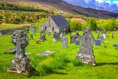 Cille Choirill cemetery royalty free stock image