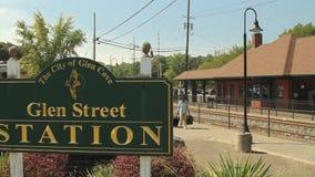 Glen Street Station sign stock video footage