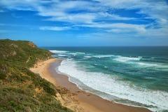 Glenair海滩在澳大利亚 库存照片