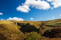Glenariff jest doliną okręg administracyjny Antrim, Północnym - Ireland obrazy stock