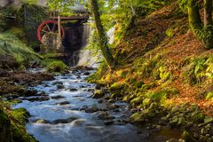 Glenariff jest doliną okręg administracyjny Antrim, Północnym - Ireland zdjęcie royalty free