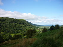Glenariff, Northern Ireland. One of nine beautiful glens in Antrim, Northern Ireland, on a sunny day stock photo