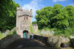 Glenarm Castle, Ireland. Glenarm Castle, Glenarm, County Antrim, Northern Ireland, is the ancestral home of the Earls of Antrim Stock Photography