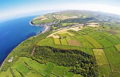 Glenarm Co.Antrim Northern Ireland. Ireland Dunluce Castle Co. Antrim Northern Ireland n.i. rathlin island gles of antrim green glens Giants Causway stock photos