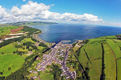Glenarm Co. Antrim, Northern Ireland. Glenarm Co. Antrim N. Ireland is one of the `Green Glens of Antrim` and is only 40 miles from the world famous `Giants stock images