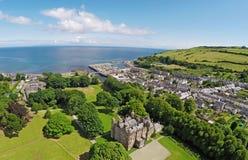 Glenarm kasztel Co Antrim Północny - Ireland obraz stock