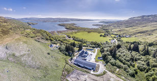 Glenbeg, Ardnamurchan Schottland - 26. Mai 2017: Ardnamurchan-Brennerei produziert Whisky seit 2014 und wirklich Lizenzfreies Stockfoto