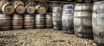 Glenbeg, Ardnamurchan - Scotland - May 26 2017 : Ardnamurchan distillery is producing whisky since 2014 and actually. Expanding their warehouses in Glenbeg Stock Image