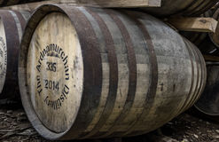Glenbeg, Ardnamurchan - Scotland - May 26 2017 : Ardnamurchan distillery is producing whisky since 2014 and actually. Expanding their warehouses in Glenbeg royalty free stock photo