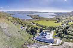 Glenbeg, Ardnamurchan Scotland - May 26 2017 : Ardnamurchan distillery is producing whisky since 2014 and actually Stock Photography