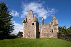Glenbuchat Castle, Aberdeenshire, Scotland. Glenbuchat Castle near Kildrummy, Aberdeenshire, Scotland is a Z-plan fortress built in 1590 by the Gordon family. It Royalty Free Stock Images
