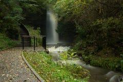Glencar Waterfall, County Leitrim, Ireland. Path at the Glencar Waterfall, County Leitrim, Ireland Stock Photo