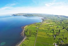 Glencloy Co.Antrim Northern Ireland. Glencloy carnlough Waterfoot Co.Antrim Northern Ireland ireland Dunluce Castle Co. Antrim Northern Ireland n.i. rathlin stock image