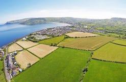 Glencloy Glenariffe Waterfoot Co Nordliga Antrim - Irland Arkivfoton