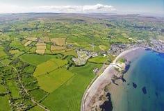 Glencloy Glenariffe Waterfoot Co Nordliga Antrim - Irland Royaltyfria Bilder