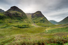 Glencoe山在苏格兰 库存图片