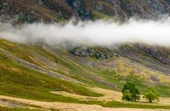 Glencoe横向,高地苏格兰 免版税库存图片