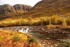 Glencoe, шотландские гористые местности, Шотландия, Великобритания стоковая фотография rf