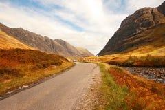Glencoe, шотландские гористые местности, Шотландия, Великобритания Стоковые Изображения RF