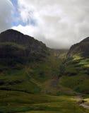 Glencoe - шотландские гористые местности Стоковые Фото