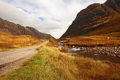 Glencoe, altopiani scozzesi, Scozia, Regno Unito fotografia stock