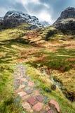 Glencoe, altopiano Scozia Immagine Stock