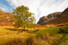Glencoe in Autumn Royalty Free Stock Photo