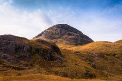 Glencoe bergpanorama Arkivfoto