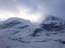 Glencoe dans la neige Photos libres de droits