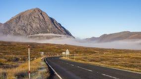Glencoe, de weg van Schotland in de Herfst Royalty-vrije Stock Foto's