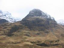 Glencoe in de winter stock fotografie