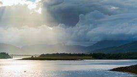 Glencoe Dramatyczny strzał Glencoe w Szkockich średniogórzach zdjęcie stock