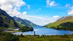 Glencoe Ett dramatiskt skott av Glencoe i den skotska Skotska högländerna fotografering för bildbyråer