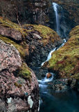Glencoe Falls. Way up in the Scottish Highlands near Glencoe are these natural falls, bringing water down from the mountains Stock Images