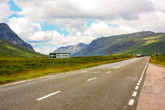 Glencoe, Highland Region, Scotland Glencoe or Glen Coe mountains panoramic view  ,Scottish Higlands,Scotland, UK. Royalty Free Stock Photography