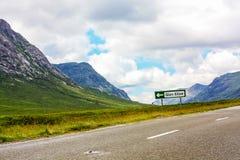 Glencoe, Highland Region, Scotland Glencoe or Glen Coe mountains panoramic view  ,Scottish Higlands,Scotland, UK. Stock Image