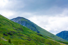 Glencoe, Highland Region, Scotland Glencoe or Glen Coe mountains panoramic view  ,Scottish Higlands,Scotland, UK. Stock Images