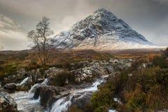 Glencoe i vinter Arkivbild