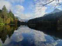 Glencoe Lochan. A beautiful autumn scene of a Scottish loch stock image