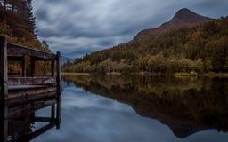 Glencoe lochan, Scozia fotografia stock libera da diritti
