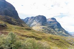 Spectacular mountains with valleys in fall season at Glencoe, Sc royalty free stock images