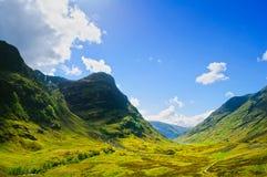 Glencoe mountain landscape in Lochaber, Scottish Higlands, Scotl. Glencoe or Glen Coe mountains and pass, panoramic view landscape in Lochaber, Scottish Higlands Stock Photography