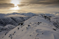 Glencoe mountains in WInter Royalty Free Stock Photography