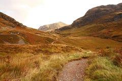 Glencoe in October, Scottish highlands Stock Image
