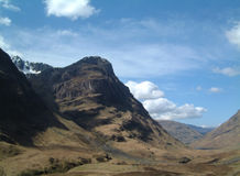 Glencoe from pass Stock Photos