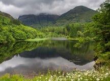 Glencoe, reflections in Torren Lochan Royalty Free Stock Images